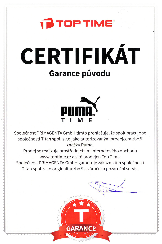 Puma 91135 IGNITE - black PU911351003. krabička Puma  garance původu hodinek 43b6d0ec30