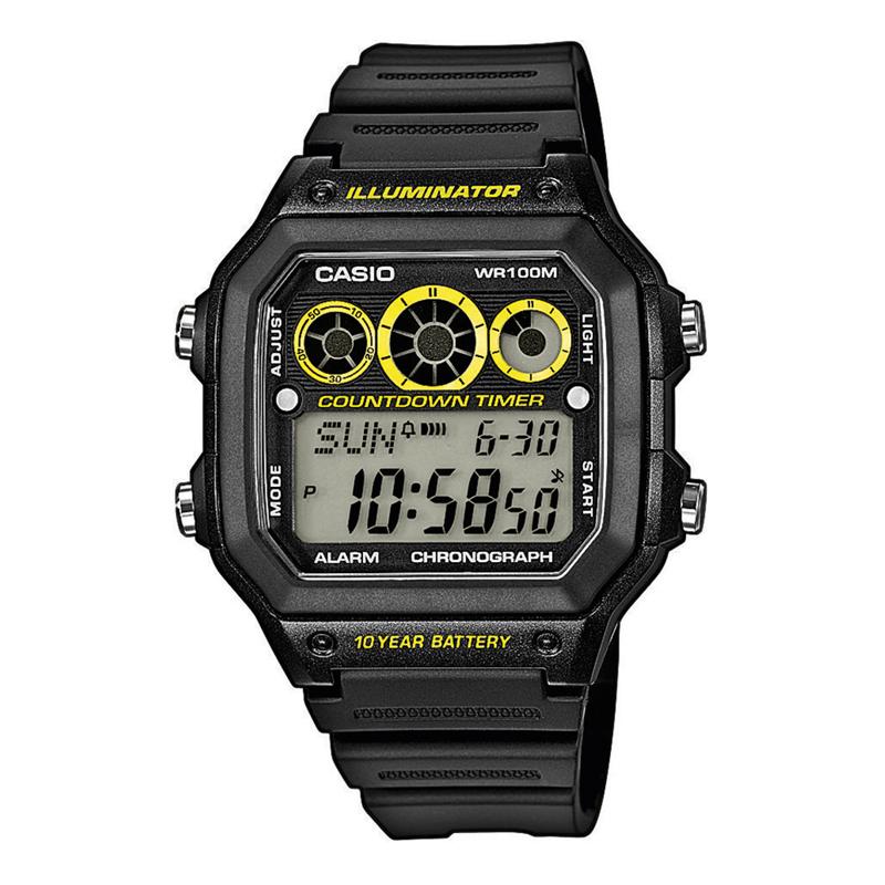 Casio AE 1300WH-1A - Digitálne hodinky - Pánske hodinky - Hodinky ... 64c5ae875f2