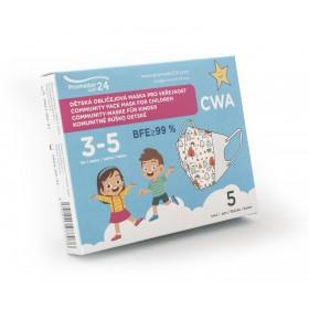 Dětská komunitní maska 3-5 let (5ks/bal.) vzor 5F