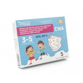 Dětská komunitní maska 3-5 let (5ks/bal.) vzor 5B