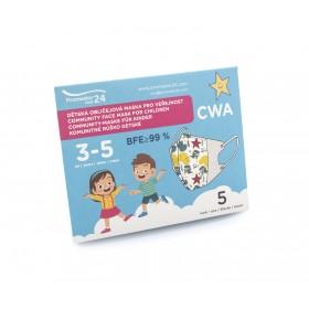 Dětská komunitní maska 3-5 let (5ks/bal.) vzor 5C