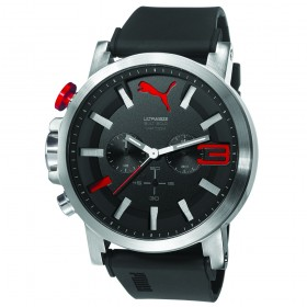 PUMA Ultrasize Chrono Silver Black RED PU103981001