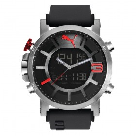 Puma 91137 Ultrasize - Anadigit silver red PU911371001
