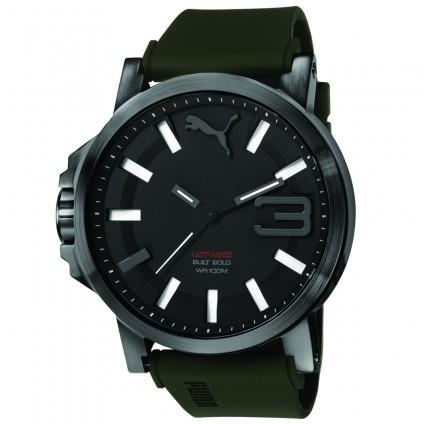 94657eb0bb8f1 PUMA Ultrasize Black Army Green PU103911002 - Módne hodinky - Pánske ...